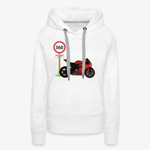 Free ride - Sweat-shirt à capuche Premium pour femmes
