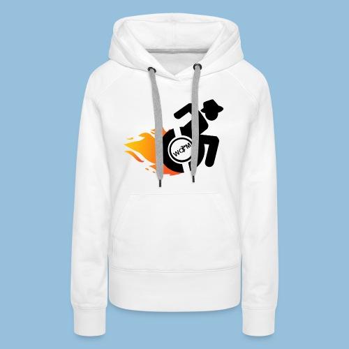 Roller met vlammen 014 - Vrouwen Premium hoodie