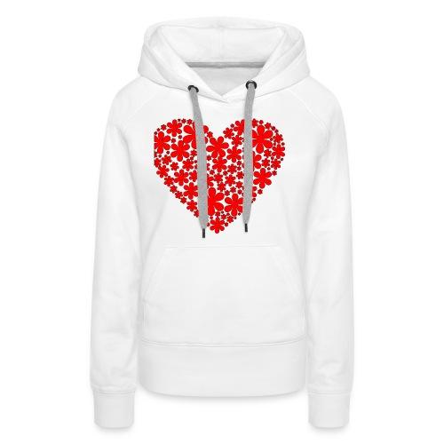 serce - Bluza damska Premium z kapturem