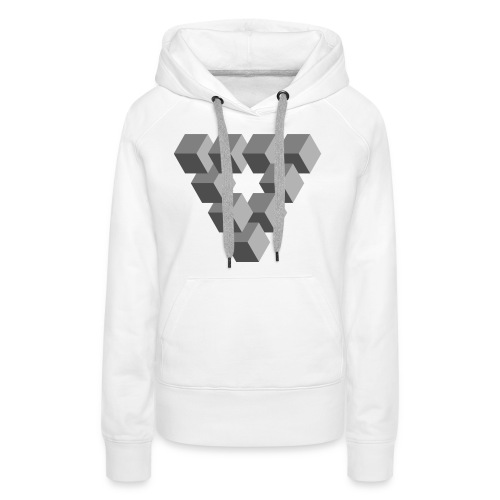 Illusions - Sweat-shirt à capuche Premium pour femmes