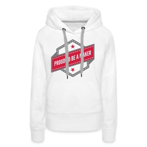 logo Vintage Proud to be a Maker - Sweat-shirt à capuche Premium pour femmes