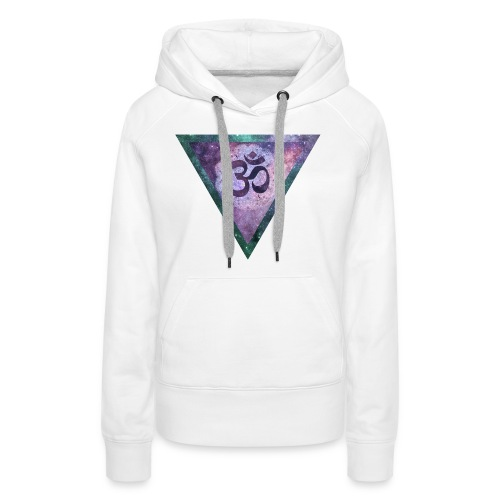 Galaxy Aum Triangle - Women's Premium Hoodie