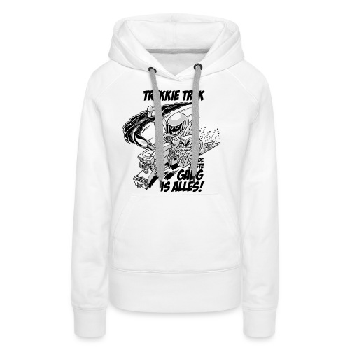 0966 trekkie trek bw - Vrouwen Premium hoodie