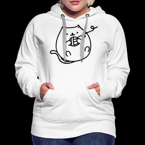 classic fat cat - Frauen Premium Hoodie