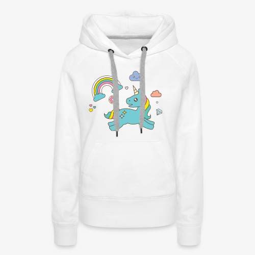 colored unicorn - Women's Premium Hoodie