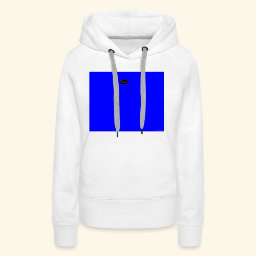 pucci blue background logo - Dame Premium hættetrøje