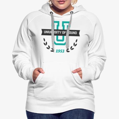University 001 - Sudadera con capucha premium para mujer