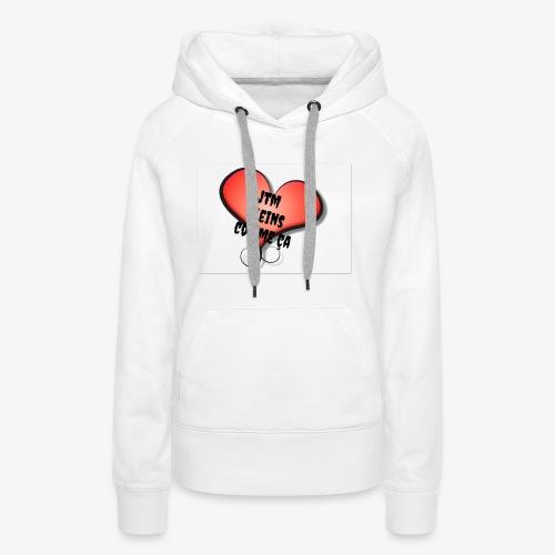 saint valentin coeur amour - Sweat-shirt à capuche Premium pour femmes