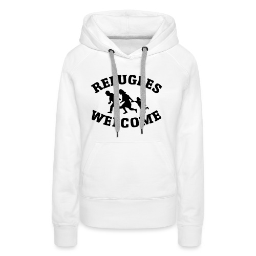 Refugees Welcome - Sweat-shirt à capuche Premium pour femmes