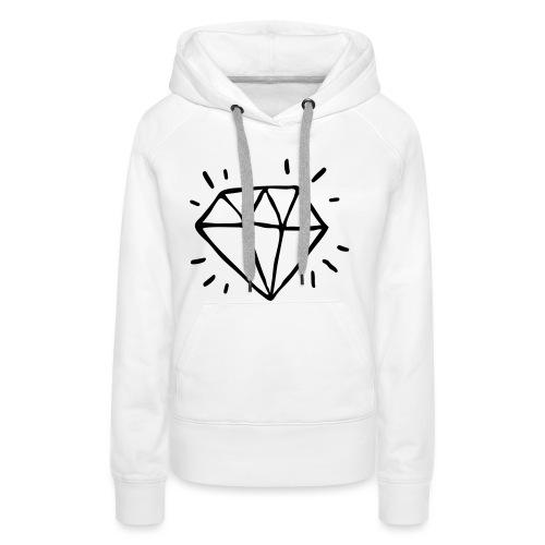 diamant - Sweat-shirt à capuche Premium pour femmes
