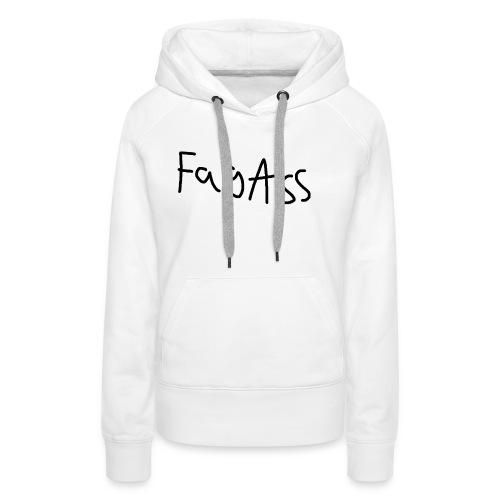 Fag Ass Logo #1 - Dame Premium hættetrøje
