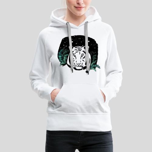 Universum Tiger - Frauen Premium Hoodie