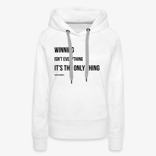 Football Victory Quotation - Women's Premium Hoodie