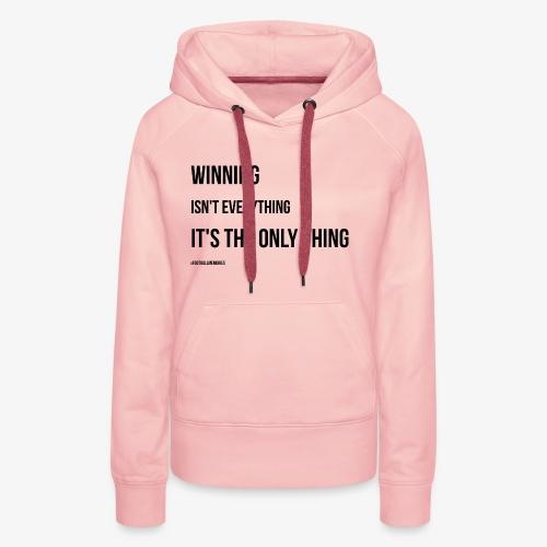 Football Victory Quotation - Women's Premium Hoodie