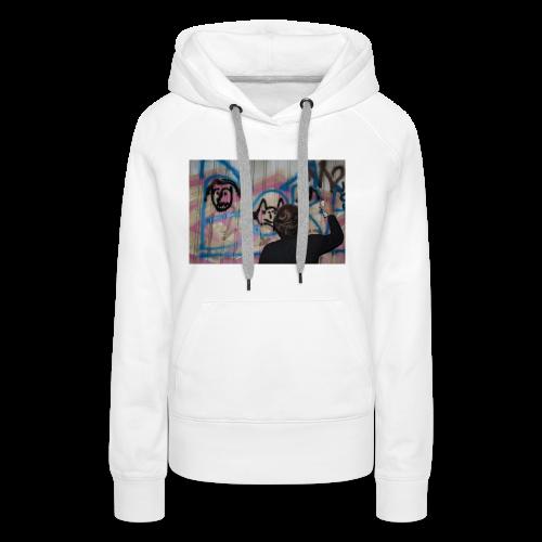 fox1 - Sweat-shirt à capuche Premium pour femmes