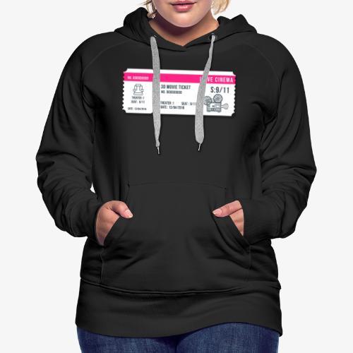 Cinema 2 - Sudadera con capucha premium para mujer