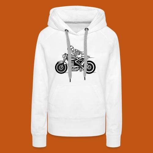 Cafe Racer Motorrad 05_schwarz - Frauen Premium Hoodie