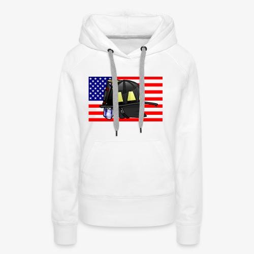 Casque pompier américain - Sweat-shirt à capuche Premium pour femmes