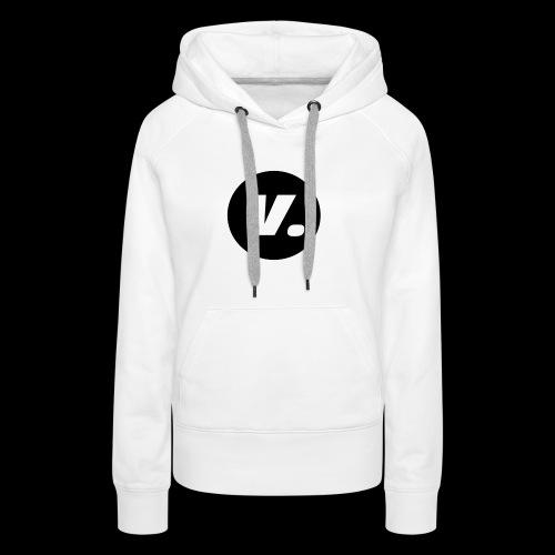 Ventura White V Logo - Vrouwen Premium hoodie