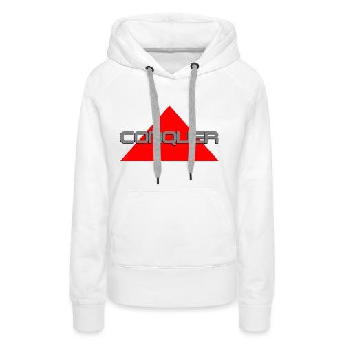 Conquer, by SBDesigns - Sweat-shirt à capuche Premium pour femmes