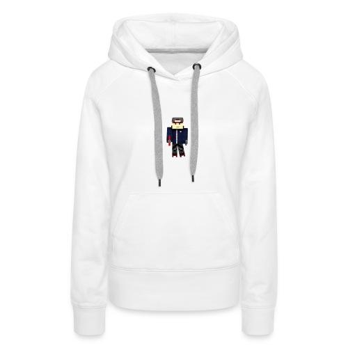 Personnage avec pistolet - Sweat-shirt à capuche Premium pour femmes