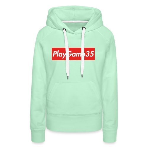 PlayGame35 - Felpa con cappuccio premium da donna