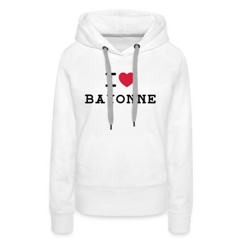 ilovebayonne - Sweat-shirt à capuche Premium pour femmes
