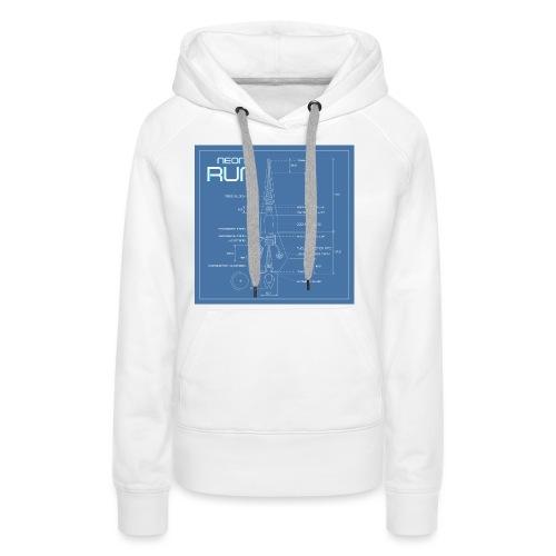 NeonRun blueprint - Vrouwen Premium hoodie