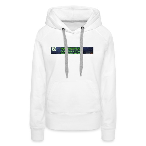 White YouTube Banner Tee - Women's Premium Hoodie