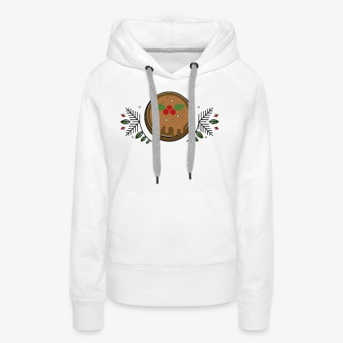 CHRISTMAS PUDDING - Women's Premium Hoodie