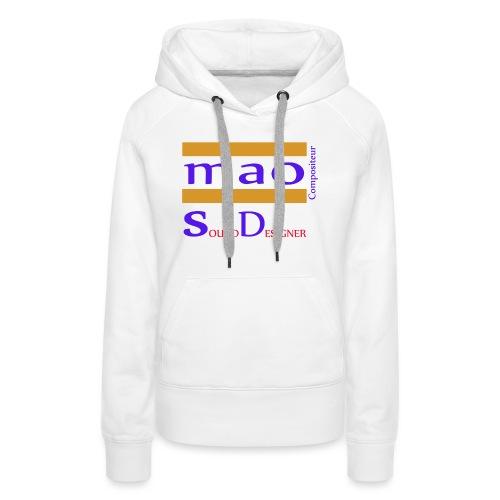 design boutique mao compo - Sweat-shirt à capuche Premium pour femmes