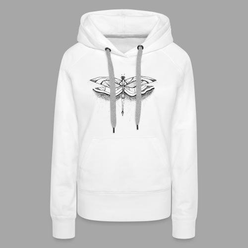 Libellule - La valse à mille points - Sweat-shirt à capuche Premium pour femmes