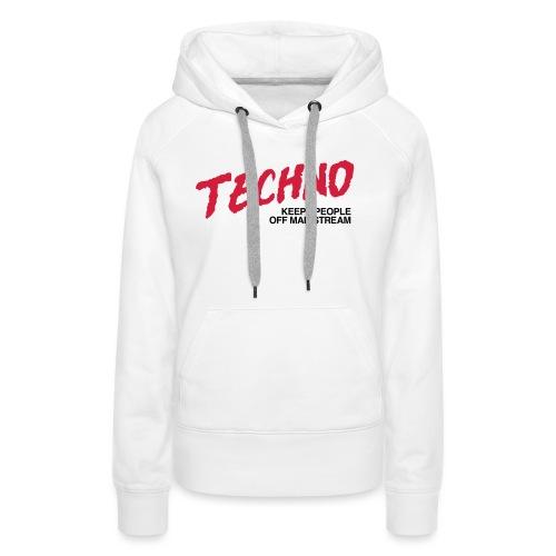 Techno music - Women's Premium Hoodie