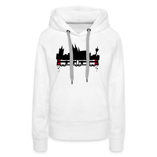 koeln 2011 v2 whiteshirt4 - Frauen Premium Hoodie