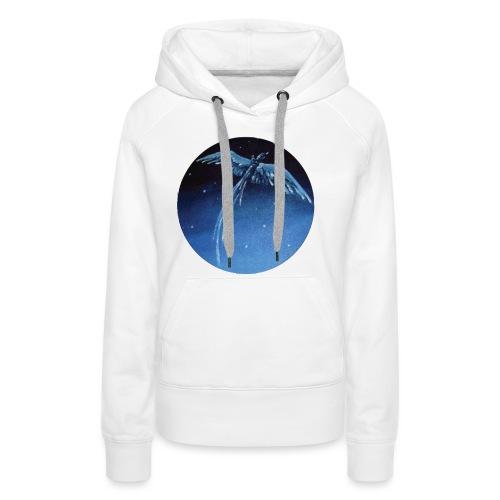 Oiseau Bleu 1 - Sweat-shirt à capuche Premium pour femmes