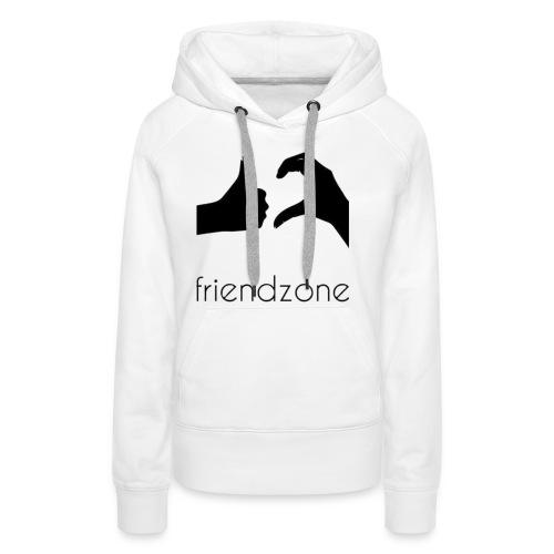 friendzone logo - Sudadera con capucha premium para mujer