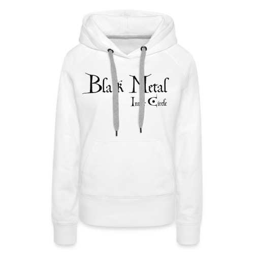black metal Inner Circle, black ink - Women's Premium Hoodie