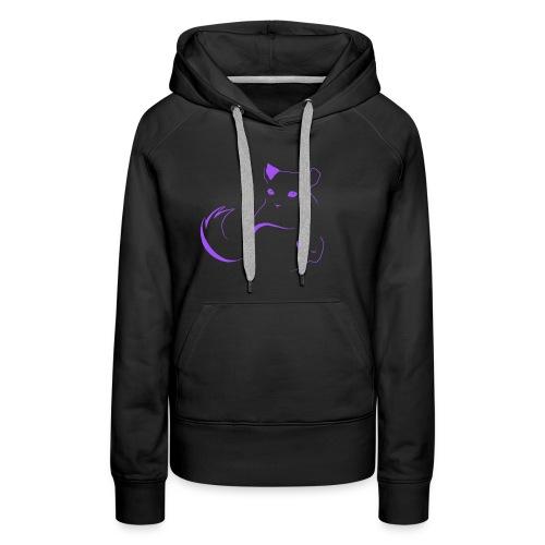 logo erittain iso violettina 1 png - Naisten premium-huppari
