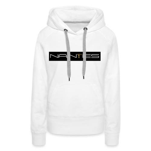 NanTes - Sweat-shirt à capuche Premium pour femmes