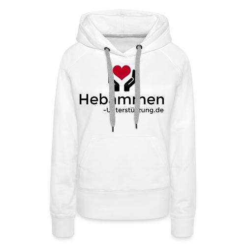 Logo Hebammen Unterstützung de schwarz klein - Frauen Premium Hoodie