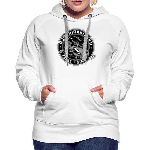 Ajokoirakiekko logo - Naisten premium-huppari