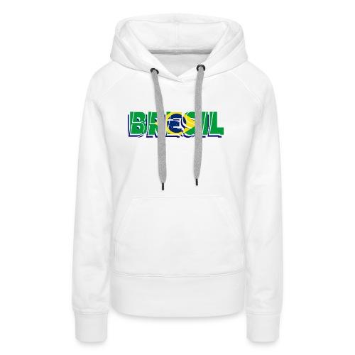 brésil - Sweat-shirt à capuche Premium pour femmes
