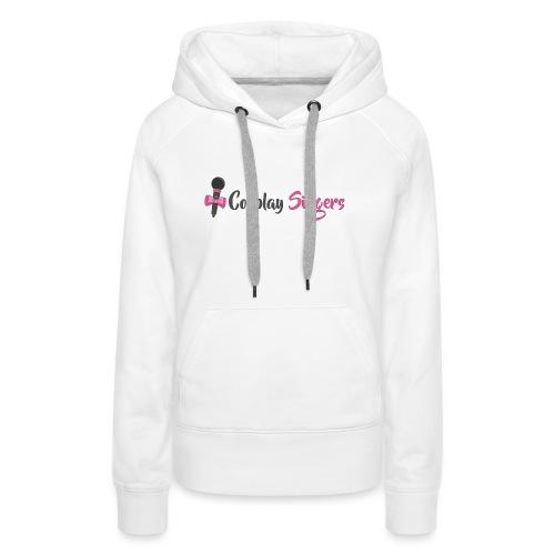 Logo Cosplay Singers - Felpa con cappuccio premium da donna