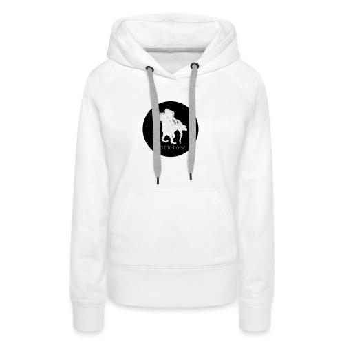 logo_intothehorse - Felpa con cappuccio premium da donna