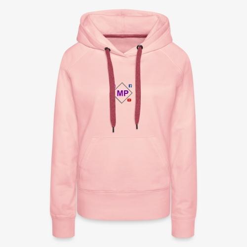 MP logo with social media icons - Women's Premium Hoodie