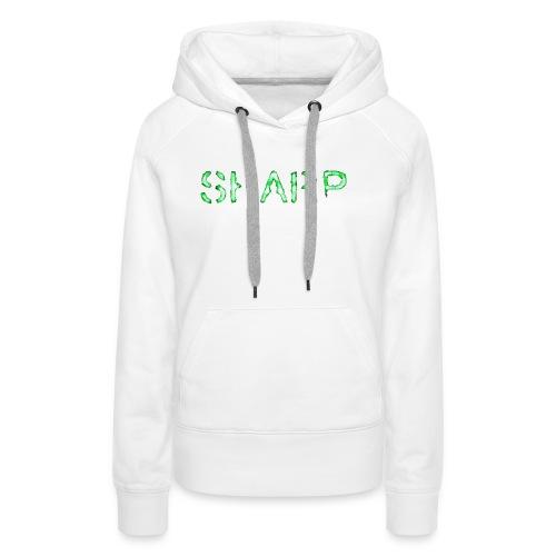 Sharp Clan black hoodie - Women's Premium Hoodie