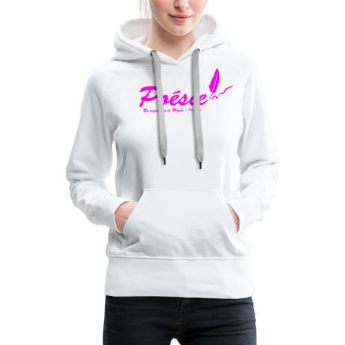 Poésie - Sweat-shirt à capuche Premium pour femmes