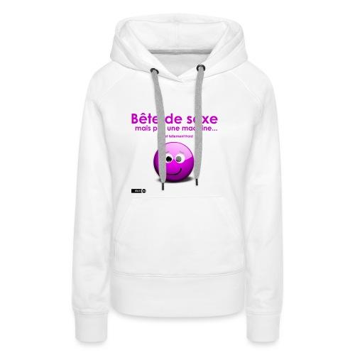 bête sexe smiley - Sweat-shirt à capuche Premium pour femmes