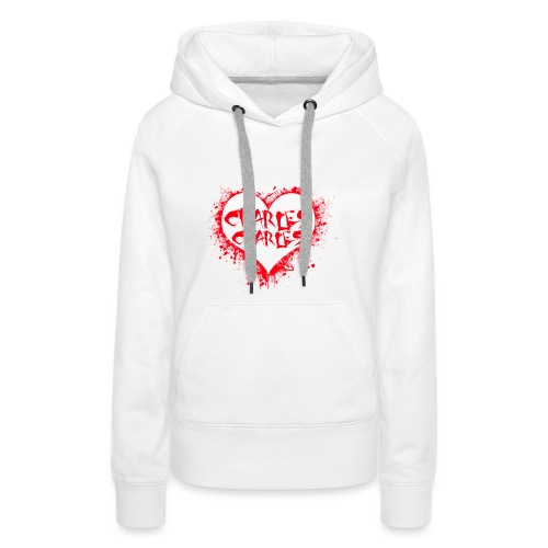 CHARLES CHARLES VALENTINES PRINT - LIMITED EDITION - Women's Premium Hoodie