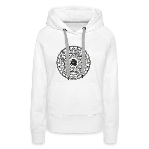 Mandala mit Schriftzug Love - Frauen Premium Hoodie